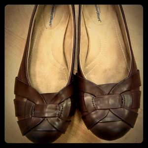 Faded Glory Brown Flats